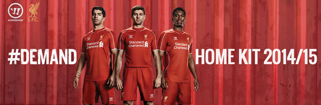 Pre Order the 2014/15 Liverpool Home kit...