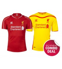 2014/15 Liverpool Home and Away Jersey - Combo Deal