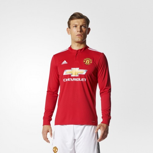 aca4626c77b Manchester United Home Long Sleeve Shirt 2017-18