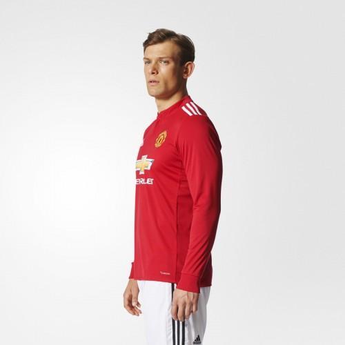 ebay manchester united 17 blind red home long sleeves soccer