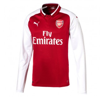 Arsenal FC Long Sleeve Home Shirt 2017-18