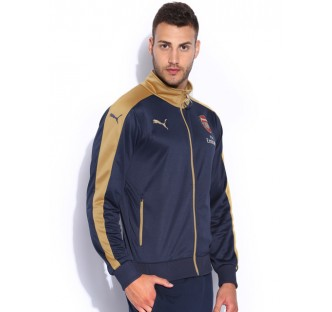 Arsenal Stadium Jacket - Navy/Gold