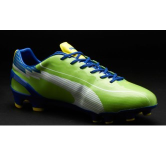 Puma evoSPEED 1 FG Boots - Green/Blue/Yellow