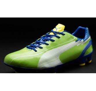 Puma evoSPEED 1 FG Boots - Green/Blue/Yellow