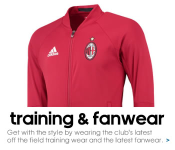 AC Milan training and fanwear