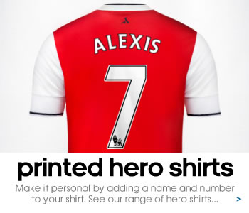 Arsenal Hero shirts