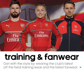 Arsenal training and casual wear