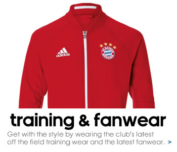 Bayern Munich training and fanwear