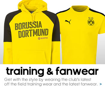 Borussia Dortmund training and fanwear
