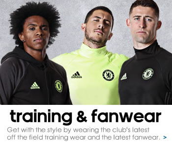 Chelsea training and fanwear