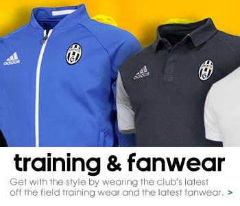 Juventus training and fanwear