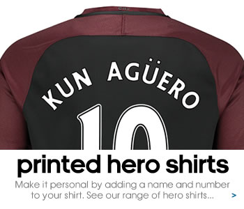 Manchester City hero shirts