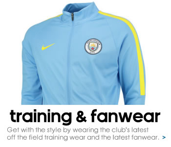 Manchester City training and fanwear