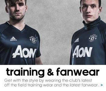 Manchester United training and fashion range