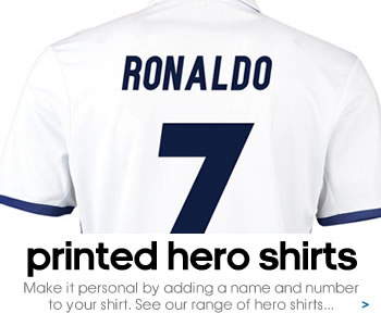 Real Madrid hero shirts