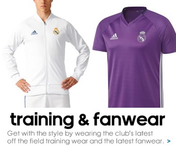 Real Madrid training and fanwear