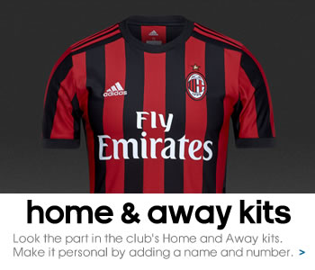 AC Milan home and away kits