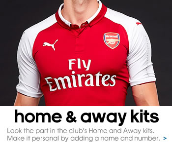 Arsenal home and away kits