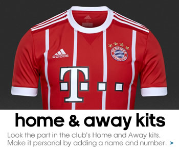 Bayern Munich home and away kits
