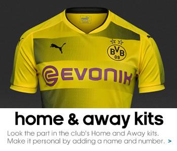 Borussia Dortmund home and away kits