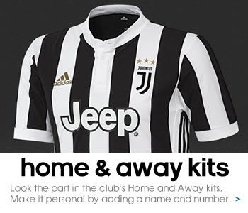 Juventus home and away kits