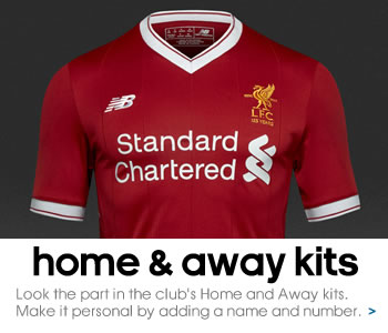 Liverpool home and away kits