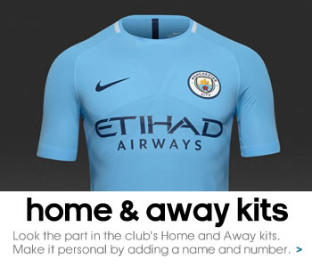 Manchester City home and away kits