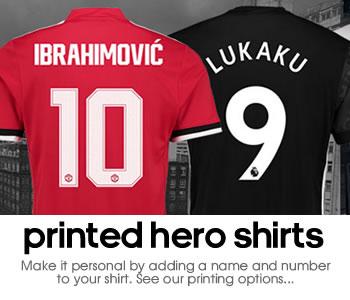 Manchester United hero shirt printing
