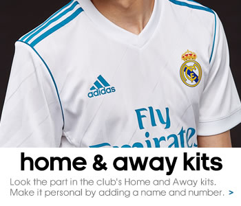 Real Madrid home and away kits