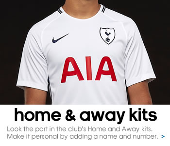 Tottenham Hotspur Home and Away kits...