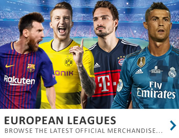 Get the latest gear from the European Soccer Leagues...