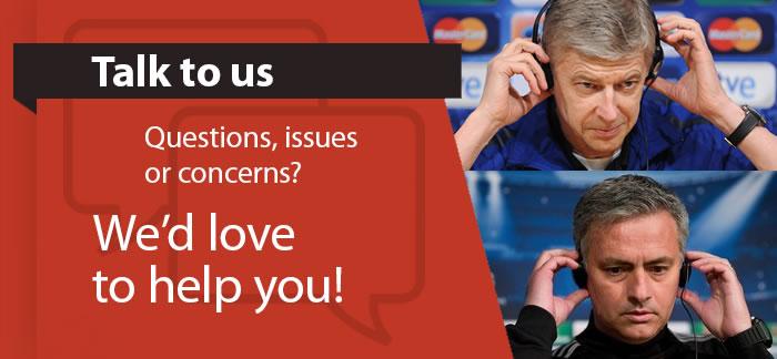 Talk to us...